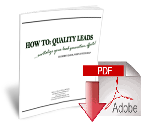 """How To: Quality Leads"" Short Course"